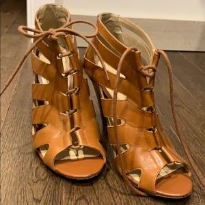 Tan Cage bootie